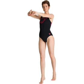 arena Essentials Swim Pro Back Combinaison une pièce Femme, black/fluo red